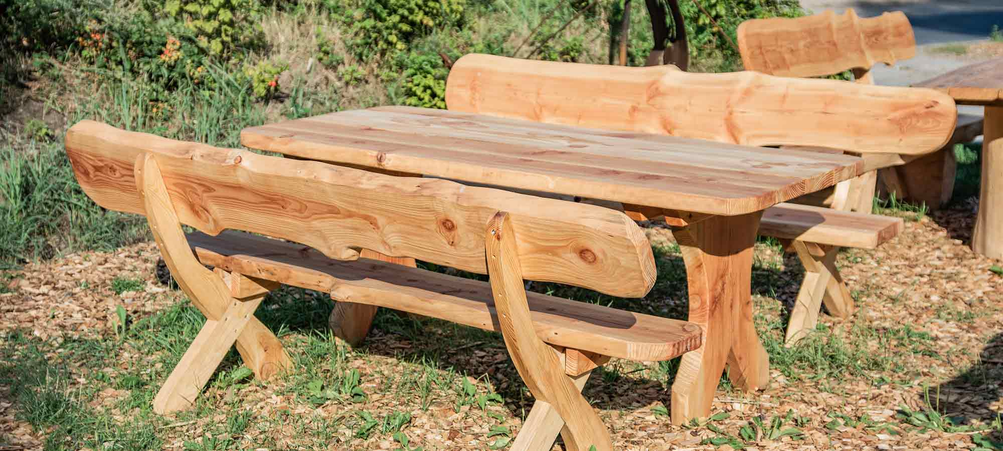 Holzmöbel Garnitur